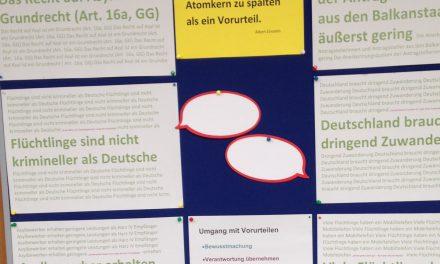 Schüler kommen mit Flüchtlingen ins Gespräch