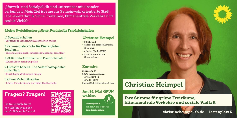 Wahlpostkarte Christine Heimpel